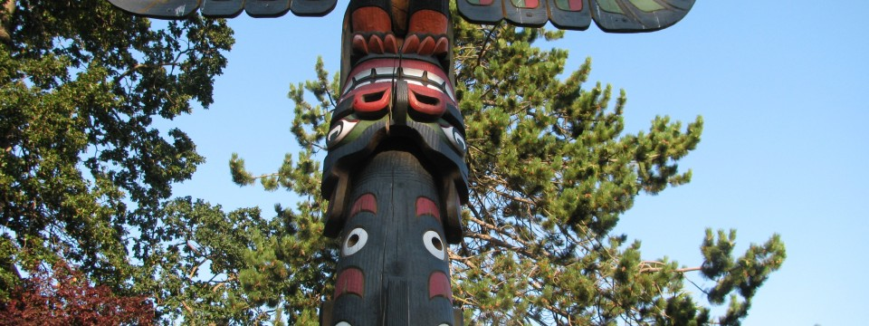 West Coast totem Victoria BC